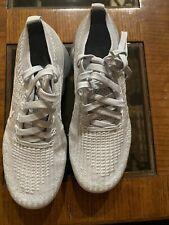 Women's Nike Air VaporMax Flyknit 3 Size 8 White/Metallic Silver AJ6910-100
