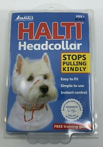 NIP! Halti Headcollar For Dogs-Sz 1-Terriers/Jack Russells/Westies - No Pulling!