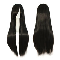 Women's Long Curly Wavy Straight Wig Costume Cosplay Xmas Party Hair Full Wigs