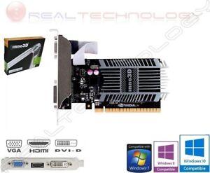 SCHEDA VIDEO 2 GB DDR3 64-BIT GE FORCE GT710 INNO3D DVI/HDMI/VGA PCI EXPRESS