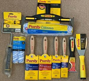 Purdy@ Brushes,Sleeves,Roller etc. (Set of 10) - Fast Dispatch Free P&P