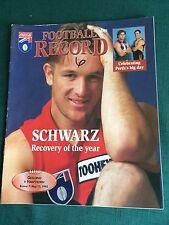 Vintage VFL/AFL 1995 Football Record Geelong V Hawthorn