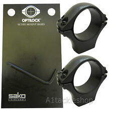 Optilock 30mm Medium Scope Rings for Sako/Tikka Mounts