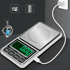 US USB 1000/0.1g LCD Digital Electronic Scales Pocket Weighing Scale Jewellery