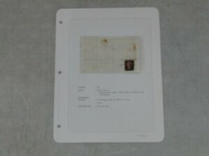 Nystamps British GB Award winning Penny Black stamp cover exhibit Plate 6