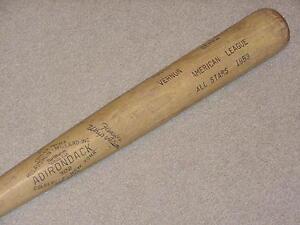 1953 Adirondack All Star Game Bat Mickey Mantle Yogi Berra Cincinnati