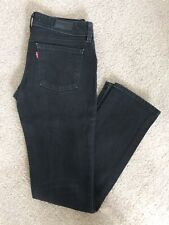Levis Noir 571 Slim Fit Denim Jeans W31 L32
