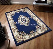 Tapis bleu persane/orientale traditionnelle sans marque pour la maison