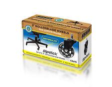 "Slipstick CB690 3"" Rollerblade Office Chair Wheels (Set of 5) Black"