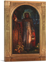 ARTCANVAS The Light Of The World 1851 Canvas Art Print by William Holman Hunt