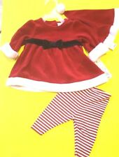 Cat & Jack 3 Piece Girl's Size 0-3 Months Red & White Holiday Pant Set - Nwts