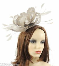 Silver Fascinator for Ascot, Weddings, Derby,Mother of the Bride F6