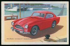Austin-Martin DB Mark III UK Automobile car original old 1950s Tobler postcard