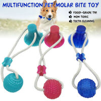 Multifunction Pet Molar Bite Toy Suction Pup Tug Toy TPR Safe Dog Cleanin