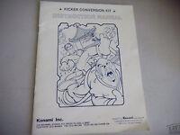 KICKER CONVERSION KIT konami  arcade video game manual