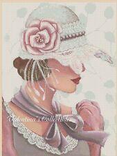 Counted Cross Stitch ART DECO LADY - No. 1-192f (Large Print)