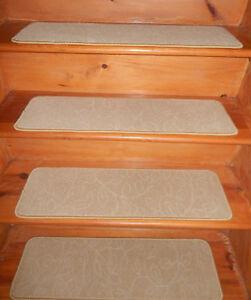 """10 = Step 9'' x 30'' + Landing 23"""" x 30"""" carpet Wool Blend Woven Stair Treads  ."""