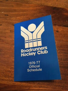 WHA 1976-77 Phoenix Roadrunners Schedule, World Hockey Association,excellent