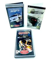 lot de 3 jeux série Need For Speed pour Playstation Portable Sony PSP PAL