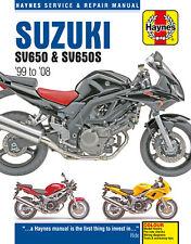 Haynes Manual Suzuki Sv650 Sv650s 99 to 08