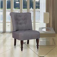 vidaXL French Provincial Chair White/Grey Dining Retro Sofa Club Bedroom Lounger