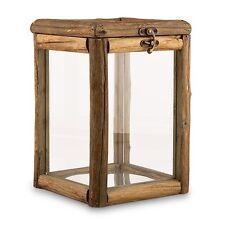 Rustic Wood Glass Box Wishing Well Wedding Reception Card Box Centerpiece Q17929
