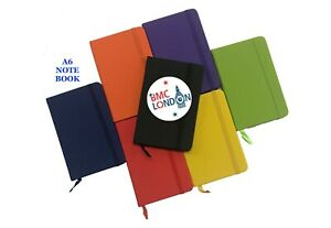 A6 New Lined Hardback Note Pad Notebook Notes Ruled Journal for Office School