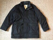 EDDIE BAUER Premium Goose Down Heavy Winter Black Jacket Coat Sz Men's L Large