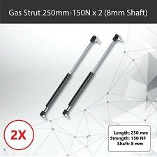 Gas Strut 250mm-150N x2 (8mm Shaft) Caravans, Trailers, Canopy, Toolboxes struts