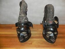 "Arts of Africa - Yoruba King & Queen - Nigeria - Benin - Togo - 30"" Height 12"" W"