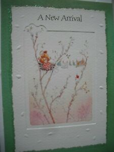 A NEW ARRIVAL Many Congratulations (Mouse & Washing) Country Companions Card
