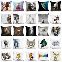 18'' polyester throw animal pillows case for sofa Bed cushion cover Home Decor