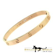 Cartier Love Bracelet in 18k Rose Gold, Size 19 with Box, Screwdriver (C-137)