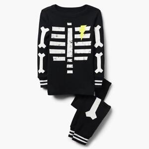 NWT Gymboree Skeleton Gymmies Pajama Set Boy Glow in the Dark 2018 all sizes