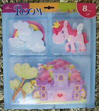 Vivaio Bambini Kid Girl Unicorno Principessa Castle Muro Adesivo Decalcomania Camera Da Letto