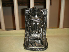 Vintage Jewish Theme Plaster Bookend-Jewish Man Reading The Scriptures-LOOK
