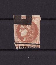 timbre France  Cérès de Bordeaux  2 c brun rouge  1870 num: 40B obl journaux