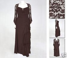 NEW!  Zaftique GRAND BALLROOM Dress COFFEE Brown 1Z 2Z 3Z 4Z / 16 XL 1X 2X 3X 4X