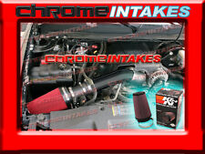 07-08 CHEVY/GMC 1500/2500/3500/HD 4.8L/5.3L/6.0L/6.2L COLD AIR INTAKE+K&N BLACK