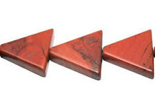 16mm Red Jasper Triangle Beads (10) TEN BEADS Beautiful Brick Red Color!