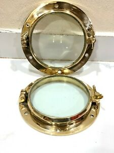 REPLACE NAUTICAL MARINE SHIP BRASS PORTHOLE/WINDOW SINGLE DOG 1 PIECES