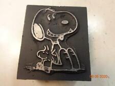 Printing Letterpress Printer Block Decorative Snoopy & Woodstock Print Cut