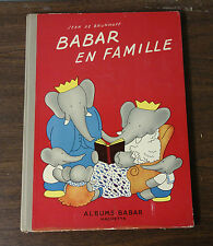 Jean De Brunhoff Babar En Famille 1938 Hachette Illustrated Children's Book