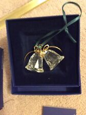 Swarovski Crystal Bells Christmas Tree Decoration