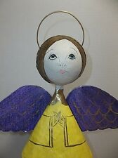 Vintage Mexican Folk Art Paper Mache ANGEL 15""