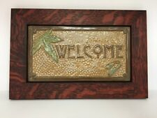 Fay Jones Day Maple Welcome Tile Framed  Arts & Crafts Mission Style Oak Park
