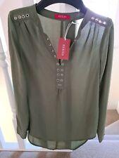Guess Womans Green Blouse Size Xs RRP €79