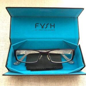 FYSH eyewear eyeglasses purple with case marble