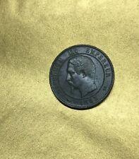 10 CENTIMES 1854 NAPOLEON III EMPEREUR Atelier B ROUEN / FRANCE en BRONZE