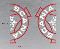 SCANIA Girl R Series Varis Super Logo Truck Wagon Decal Sticker x 2